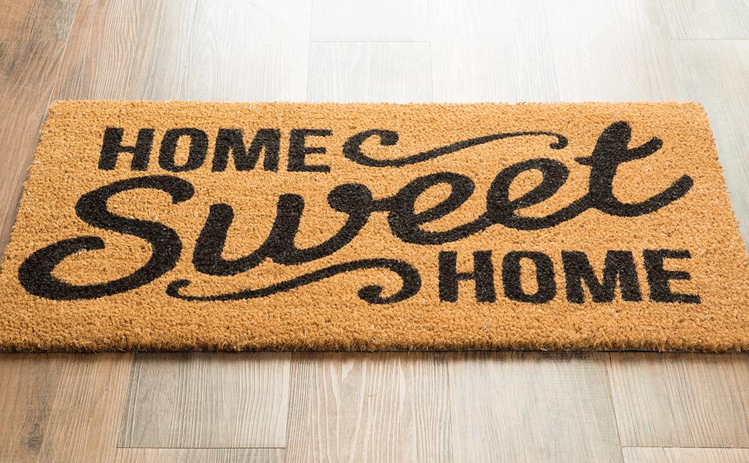Home sweet home …